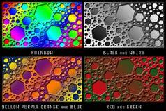 Un sistema de figuras Caos del color Fotos de archivo
