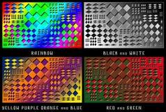 Un sistema de figuras Caos del color Imágenes de archivo libres de regalías