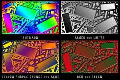 Un sistema de figuras Caos del color Foto de archivo libre de regalías