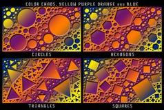 Un sistema de figuras Caos del color Imagen de archivo libre de regalías