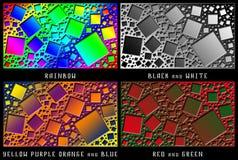 Un sistema de figuras Caos del color Fotografía de archivo libre de regalías