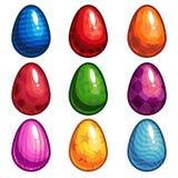 Un sistema de huevos coloreados Foto de archivo libre de regalías