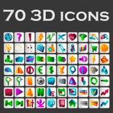 un sistema de iconos coloreados Imágenes de archivo libres de regalías