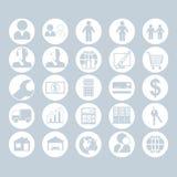 Un sistema de iconos de la gente, del negocio y de la construcción ilustración del vector