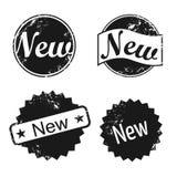 Nuevos iconos del sello stock de ilustración