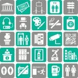 Iconos del viaje Foto de archivo libre de regalías