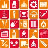 Iconos del fuego Fotografía de archivo libre de regalías