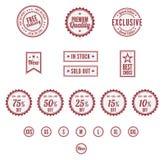 Un sistema de insignias retras Fotografía de archivo libre de regalías