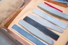 Un sistema de la colección de accesorios de la manicura Imágenes de archivo libres de regalías