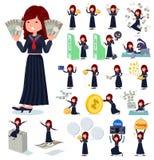 Un sistema de la colegiala de Jap?n con referirse al dinero y a la econom?a libre illustration