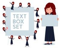 Un sistema de la colegiala de Jap?n con un tablero de mensajes ilustración del vector