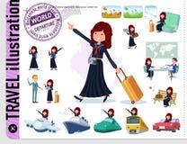 Un sistema de la colegiala de Jap?n en viaje libre illustration