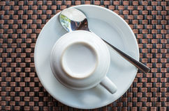 Un sistema de la taza de café Fotografía de archivo