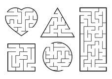 Un sistema de laberintos Juego para los cabritos Rompecabezas para los ni?os Enigma del laberinto Encuentre la trayectoria derech ilustración del vector