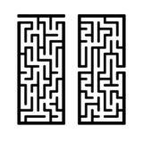 Un sistema de laberintos Juego para los cabritos Rompecabezas para los ni?os Enigma del laberinto Encuentre la trayectoria derech stock de ilustración