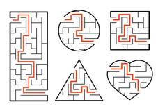 Un sistema de laberintos Juego para los cabritos Rompecabezas para los ni?os Enigma del laberinto Encuentre la trayectoria derech libre illustration