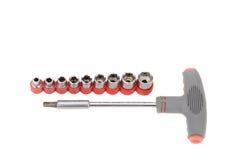 Un sistema de las herramientas para la máquina de la reparación Fotografía de archivo