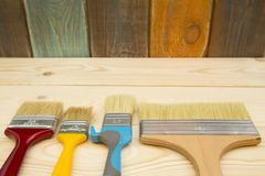 Un sistema de las herramientas para pintar una casa Fotografía de archivo libre de regalías