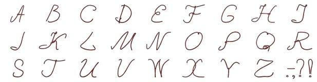 Un sistema de letras del alambre oxidado Fotos de archivo libres de regalías