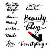 Un sistema de letras hermosas stock de ilustración