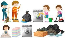 Un sistema de limpieza de la gente Imagen de archivo