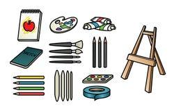 Iconos de la fuente del arte ilustración del vector