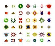 Un sistema de logotipos, de iconos y de elementos gráficos Fotografía de archivo libre de regalías