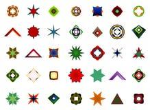 Un sistema de logotipos, de iconos y de elementos gráficos Foto de archivo