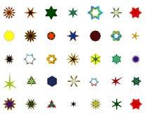 Un sistema de logotipos, de iconos y de elementos gráficos Fotografía de archivo