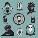 Un sistema de logotipos de la peluquería Foto de archivo libre de regalías
