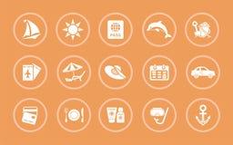 Un sistema de los ejemplos para el registro de un tema de un viaje y de un día de fiesta libre illustration