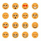 Un sistema de los emojis para la charla, redes sociales Fotografía de archivo