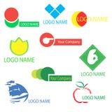 Un sistema de los logotipos para el diseño Fotografía de archivo libre de regalías
