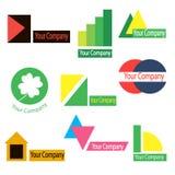 Un sistema de los logotipos para la compañía Imagen de archivo libre de regalías