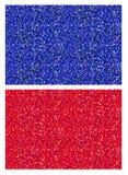 Un sistema de los modelos tejados inconsútiles chispeantes brillantes rojos y azules de la textura del brillo para los fondos, pa Libre Illustration