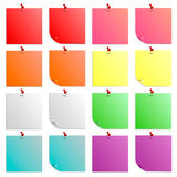 Un sistema de los palillos coloridos, hermosos, hojas con los botones Fotos de archivo libres de regalías