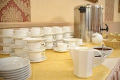 Un sistema de los platos para la comida fría fotos de archivo