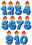 Un sistema de números de la vela stock de ilustración