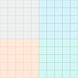 Un sistema de papel cuadriculado en cuatro colores Papel de trazado Vector Fotos de archivo
