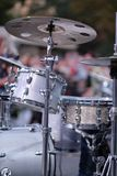Un sistema de tambores y de platillos foto de archivo