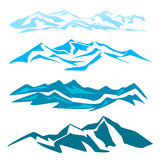 Un sistema de varios montaña Fotos de archivo