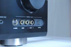 Entradas del amplificador audio Imagen de archivo libre de regalías
