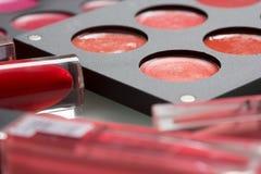 Un sistema del artista de maquillaje profesional Different Fotografía de archivo