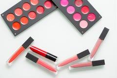Un sistema del artista de maquillaje profesional Different Imagen de archivo libre de regalías