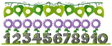 Un sistema del número con la flor stock de ilustración