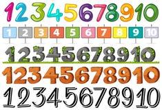 Un sistema del número de fuente libre illustration