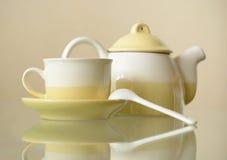 Sistema de café de cerámica Fotos de archivo