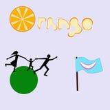 Un sistema del vector de logotipos Foto de archivo libre de regalías