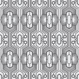 Un sistema geométrico de inconsútil blanco y negro Estilo del modelo inconsútil del formato del vector nuevo ilustración del vector