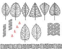 Un sistema gráfico de hojas y de texturas étnicas inconsútiles Fotos de archivo